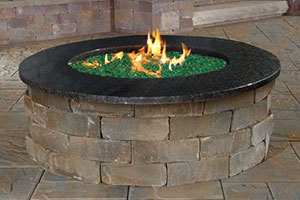 Pre Packaged Cambridge Olde English Round Gas Fire Pit Kit