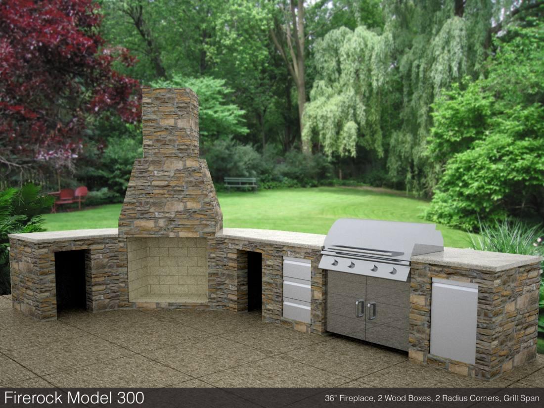 Firerock fireplaces sold at livingston park nursery for Firerock fireplaces