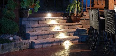 LED Wall Pillar and Step Lights & Livingston Park Nursery carries Kerr Landscape Lighting azcodes.com